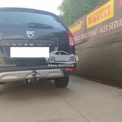 Gancio traino orizzontale per Dacia Logan