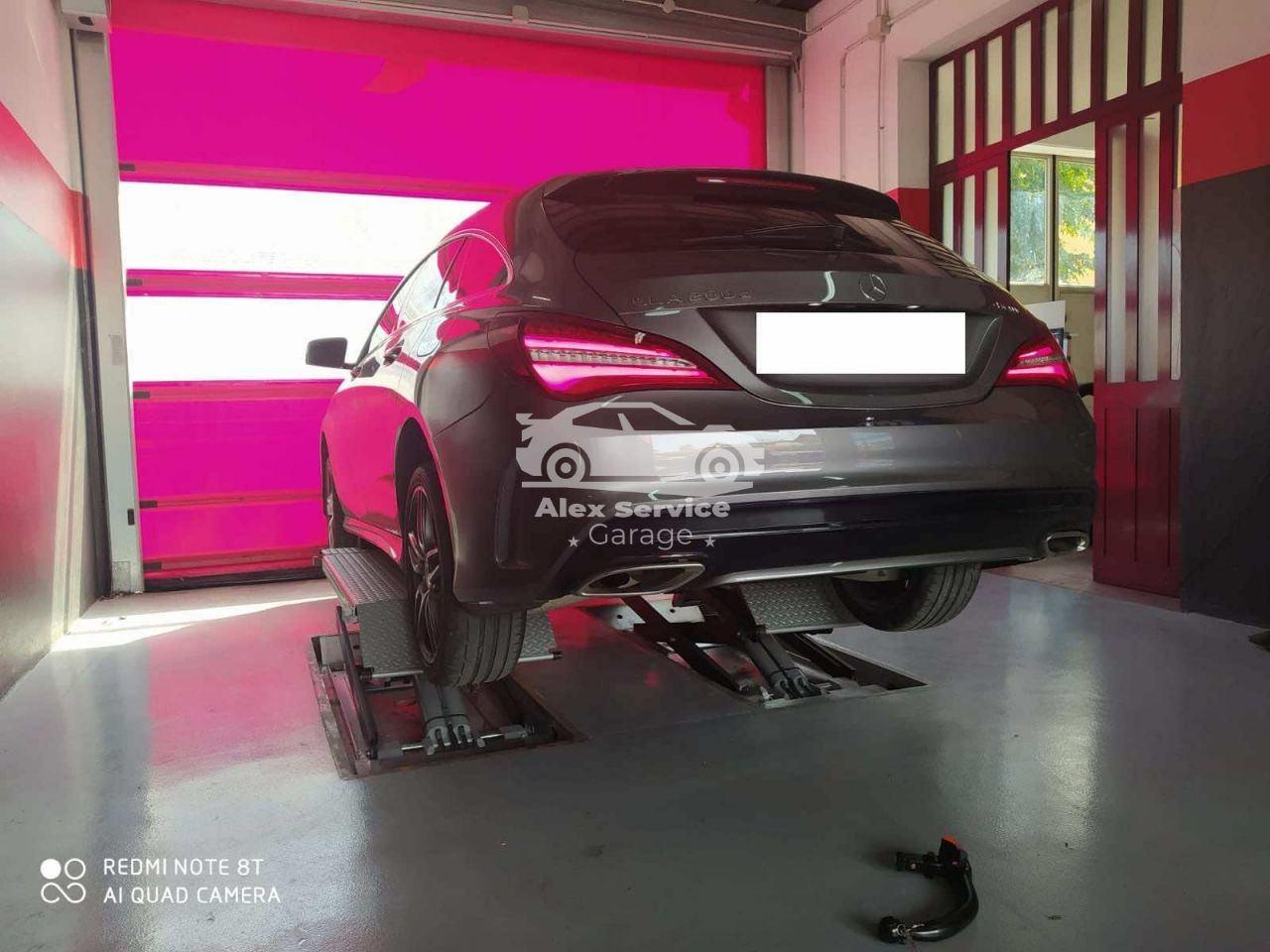 Gancio traino orizzontale per Mercedes CLA SW Shooting Brake