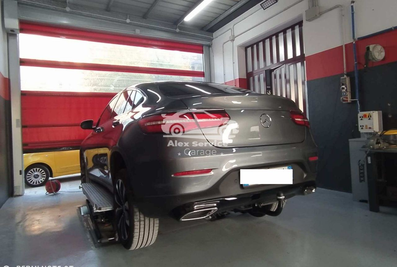 Gancio traino verticale per Mercedes GLC 300D