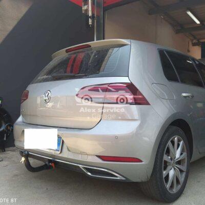 Gancio traino verticale per Volkswagen Golf