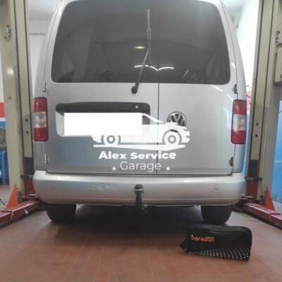 Gancio traino verticale per volkswagen caddy