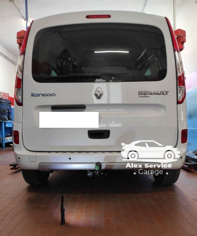 Gancio traino orizzontale per Renault Kangoo