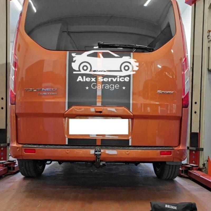 Gancio traino diagonale per Ford tourneo custom