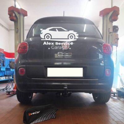 Gancio traino orizzontale per Fiat 500L