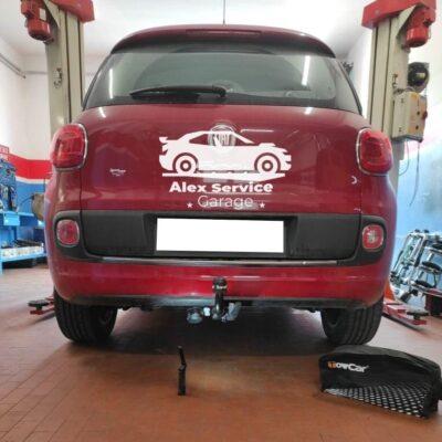 Gancio traino verticale per Fiat 500L
