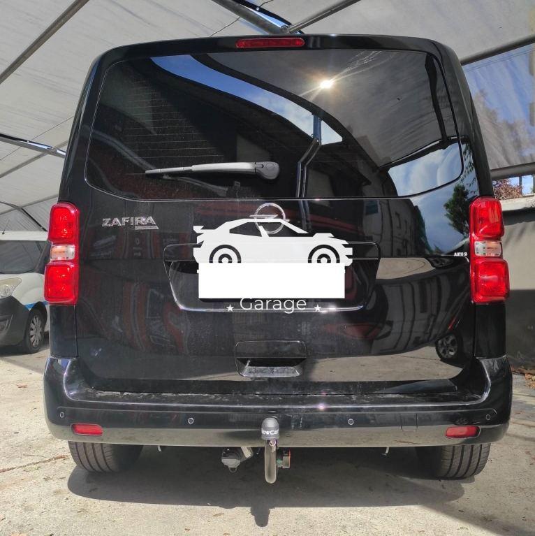 Gancio traino verticale per Opel Zafira life