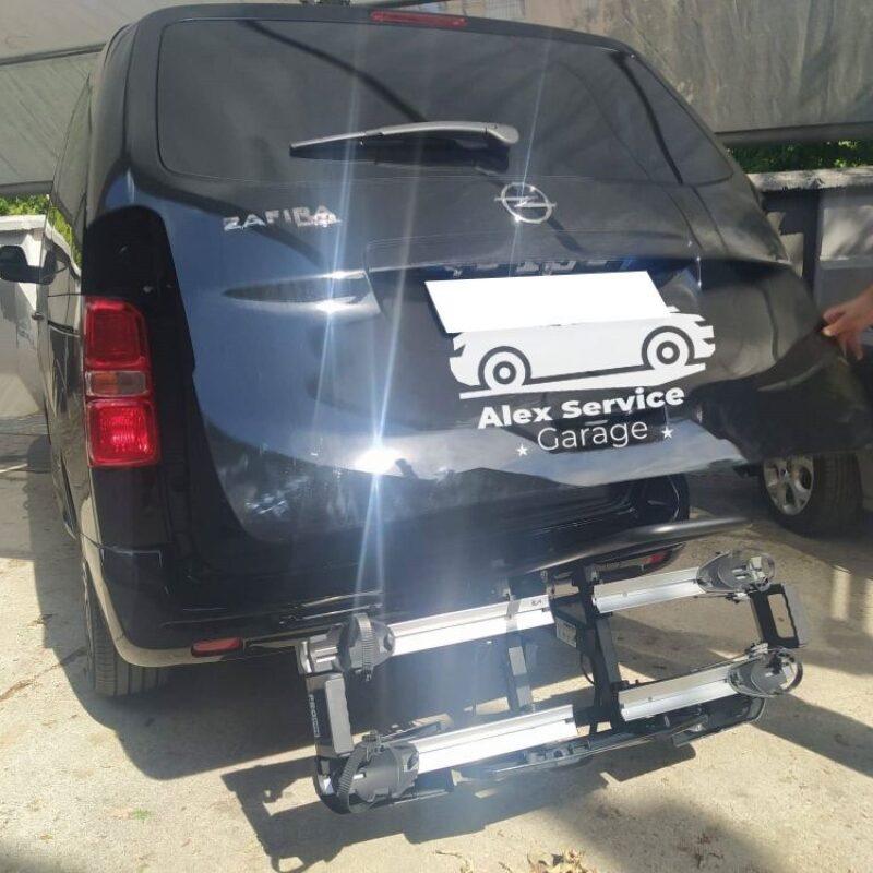 Portabici sg2 plus sul veicolo Opel zafira